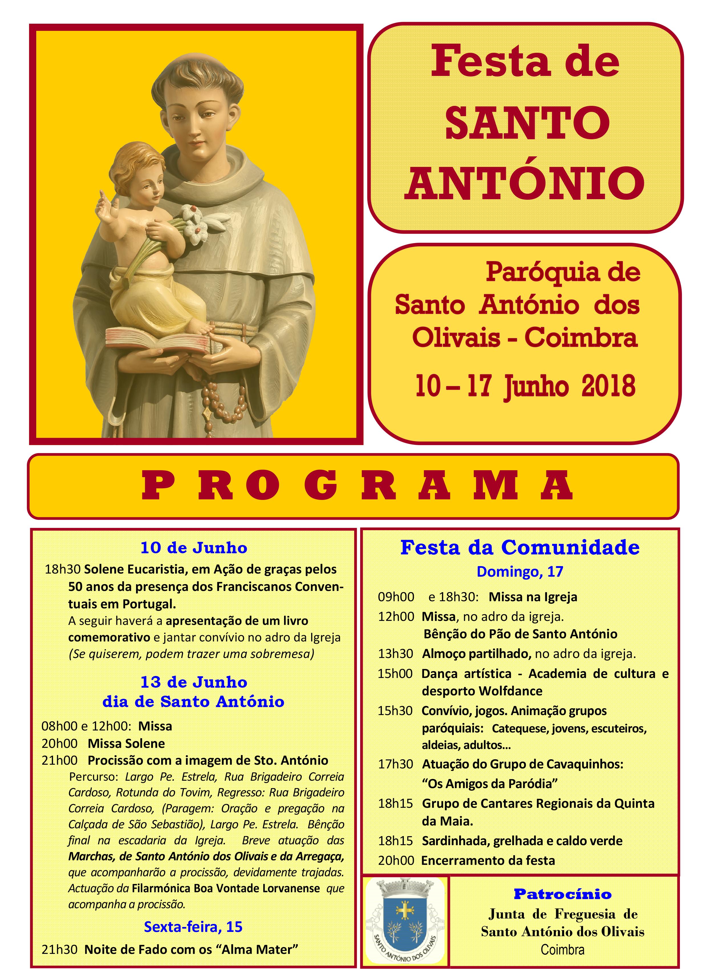 FESTAS RELIGIOSOS DE SANTO ANTÓNIO