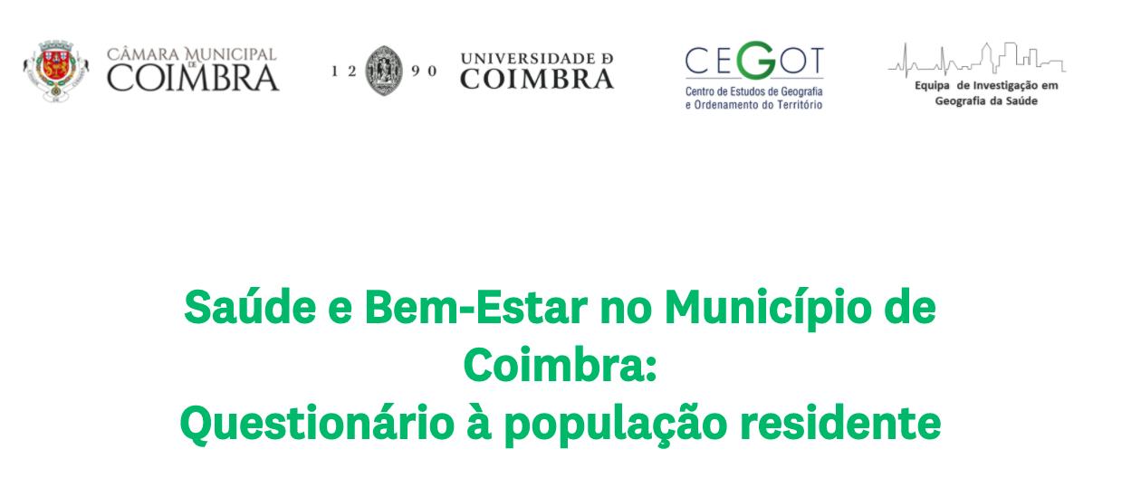 Saúde e Bem-Estar no Município de Coimbra: Questionário à população residente