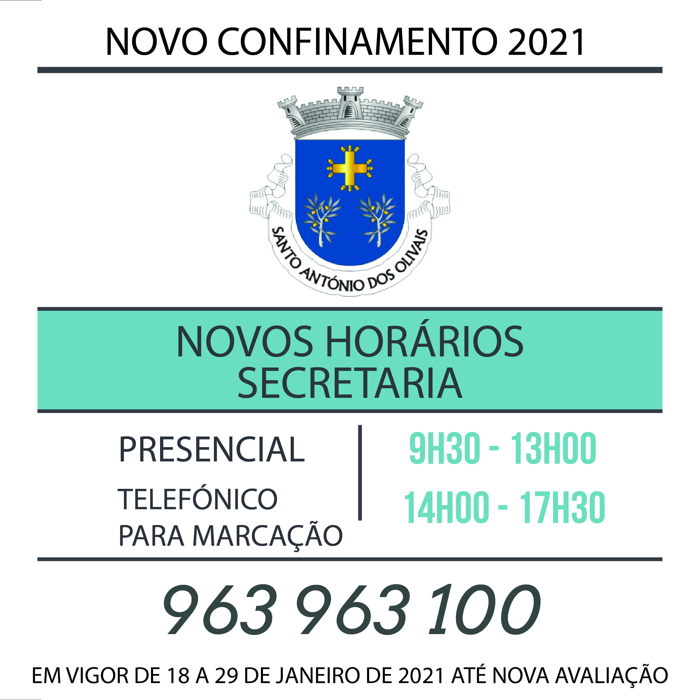 Novos Horários Confinamento 2021